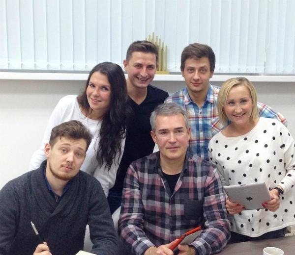 Владислав Завьялов с коллегами