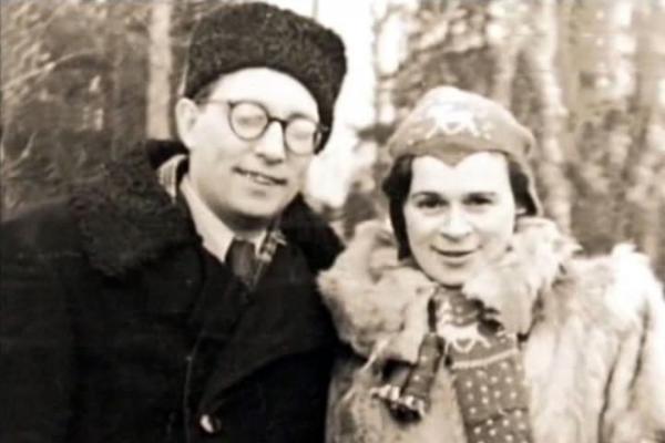 Лев Ошанин с женой Еленой Успенской