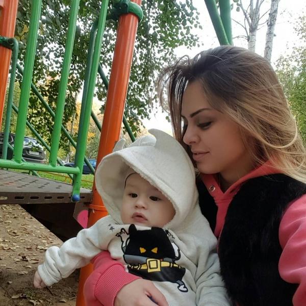 Евгения с сыном Марком