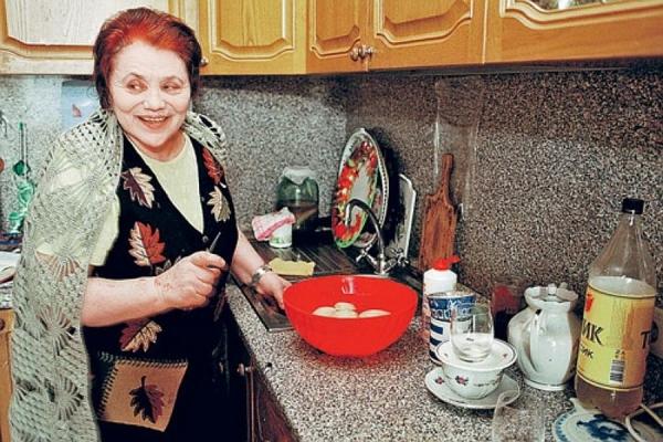 Марина Попович на кухне
