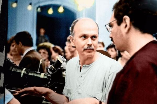 Николай Немоляев на съёмках, 1988 год