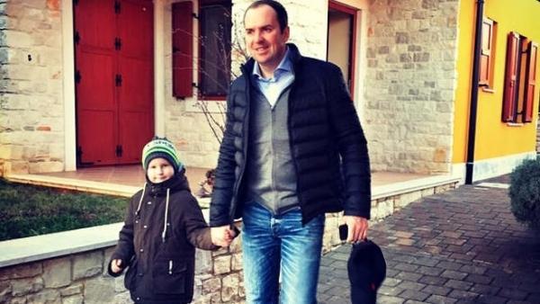 Сергей с сыном Сашей