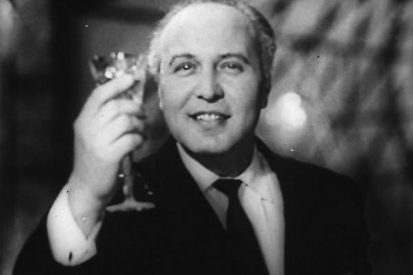 Ведущий Голубого огонька Виктор Балашов. 1962 год